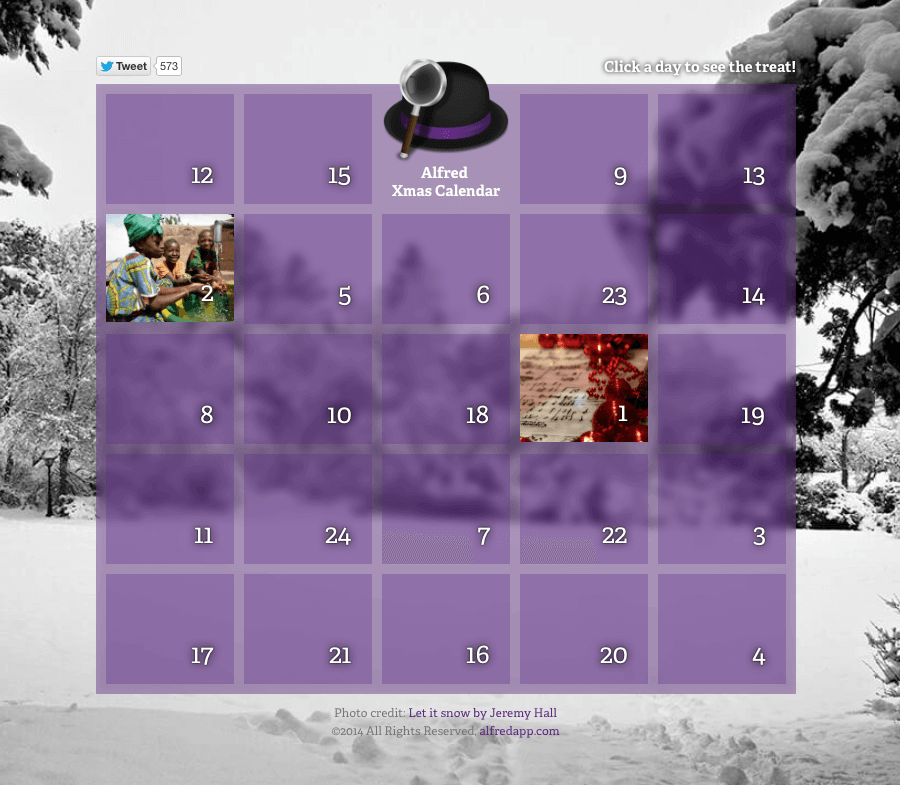 Christmas Calendar 2014 : The alfred christmas calendar for is here