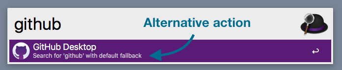Subtext shows the default fallback option