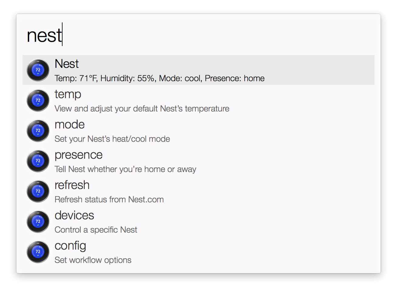 Nest Temperature Control Workflow - Control Panel