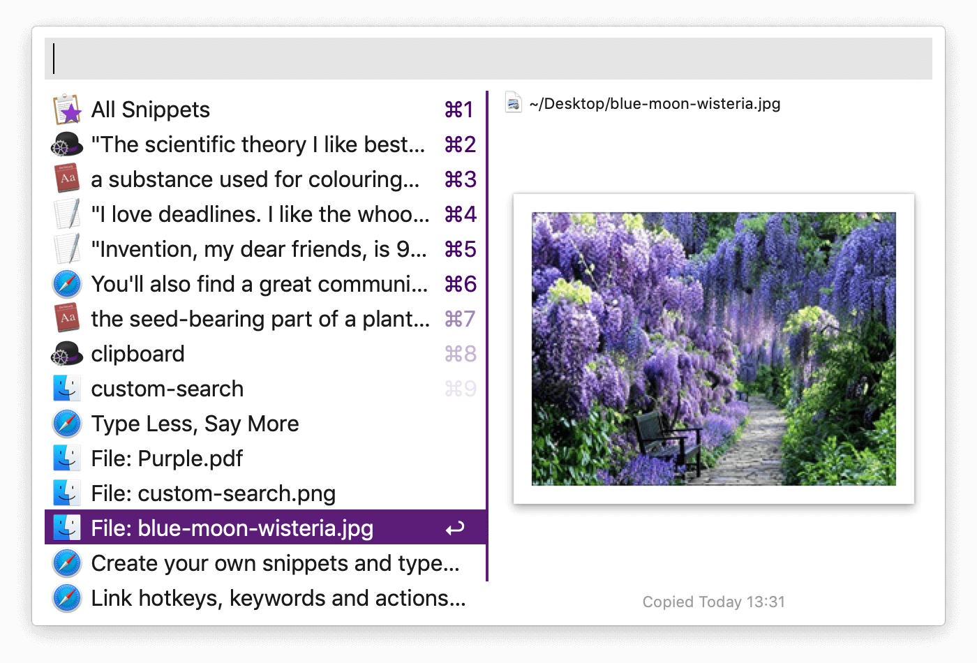 Clipboard Viewer example