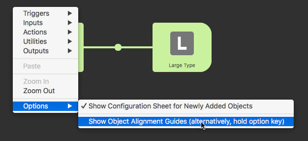 Turning on alignment guides