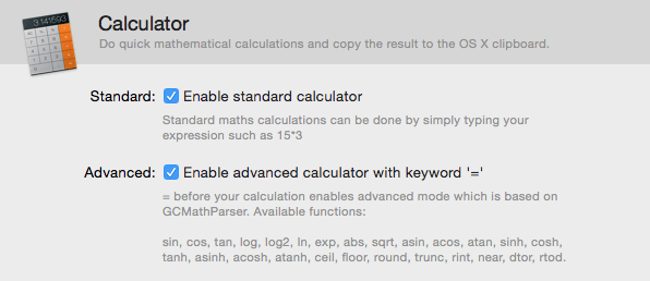 Calculator Preferences Top