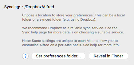 Sync your Alfred settings between Macs - Alfred Help and Support